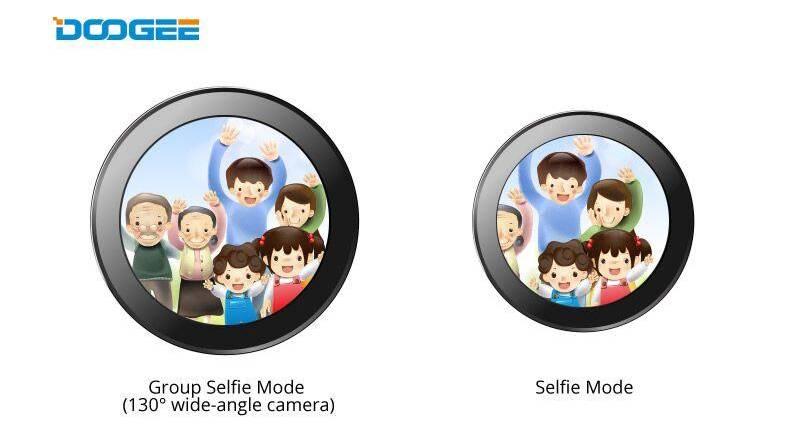 """Режим """"Group Selfie Mode"""" фронтальной камеры Doogee Mix 2"""
