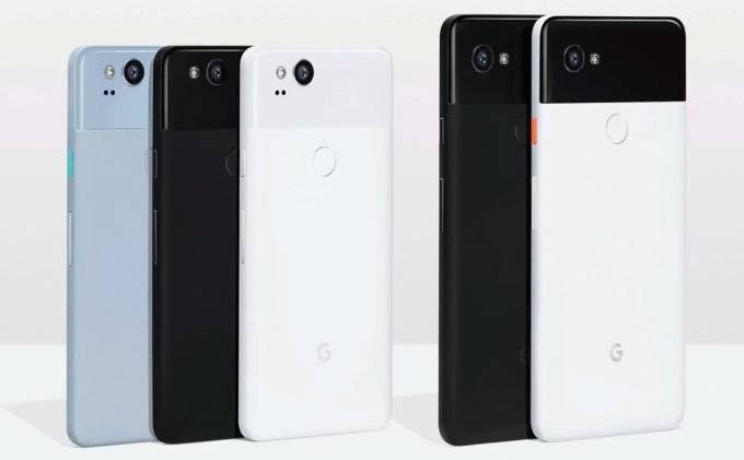 Google Pixel 2 и Pixel 2 XL в сравнении
