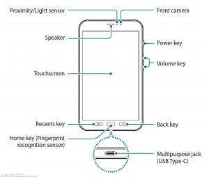 Рисунок из инструкции Samsung Galaxy Tab Active 2
