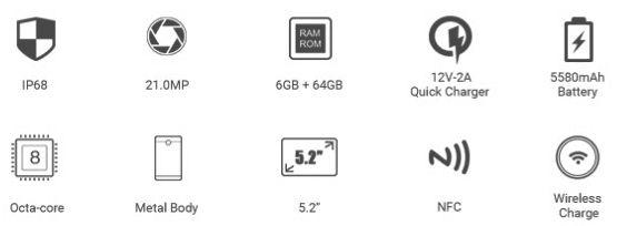 Ключевые фишки Doogee S60