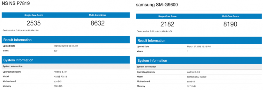 """OnePlus 6 может """"уделать"""" по производительности Samsung Galaxy S9"""
