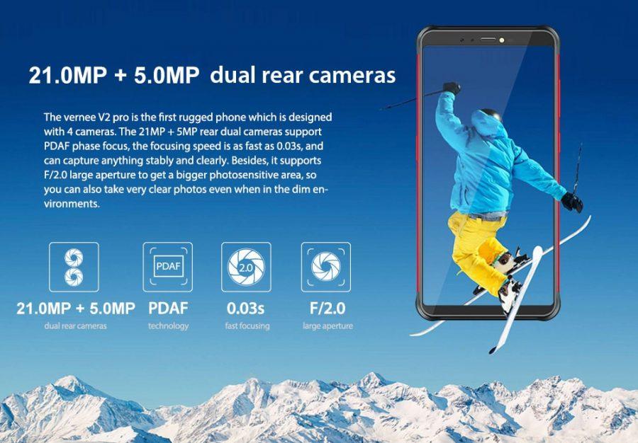 Характеристики основной камеры Vernee V2 Pro