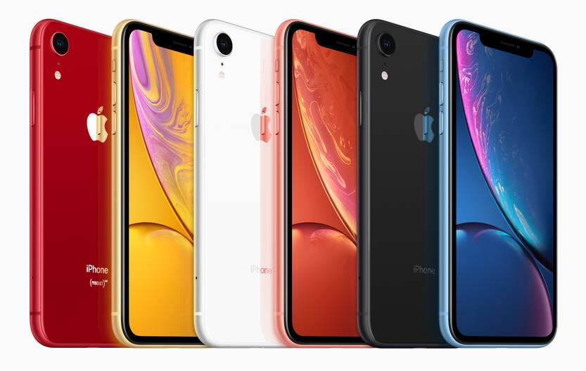Цвета Apple iPhone XR