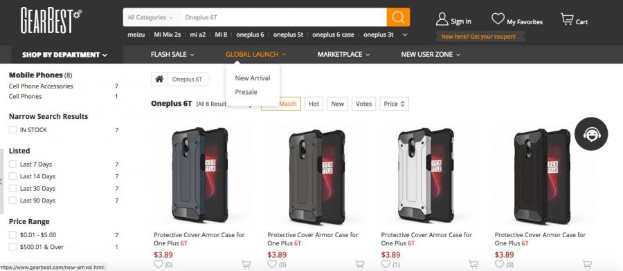 Чехлы для OnePlus 6T в каталоге GearBest