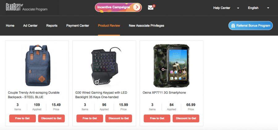 Возможность получить бесплатный смартфон от интернет-магазина GearBest