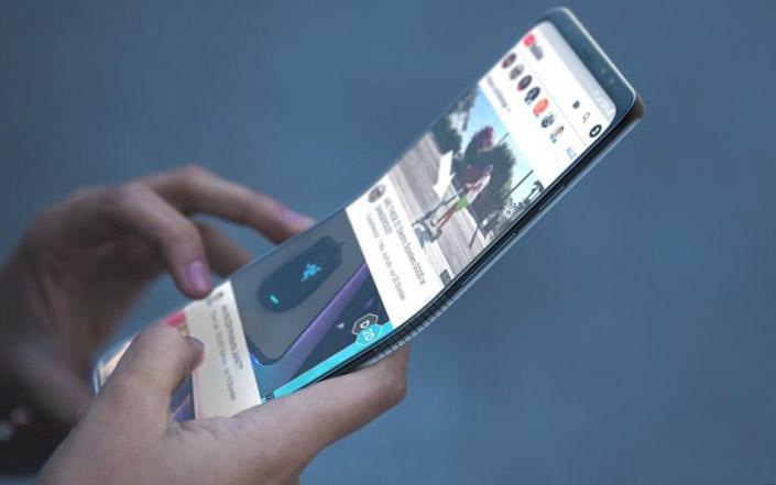 Один из дизайнерских концептов Galaxy F (или Galaxy X)