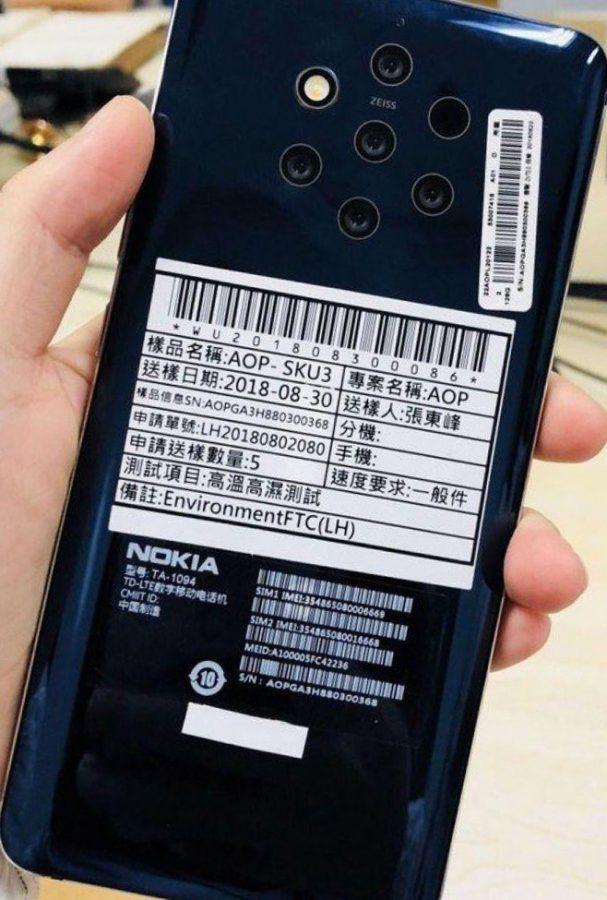 Смартфон с пятимодульной камерой от Nokia