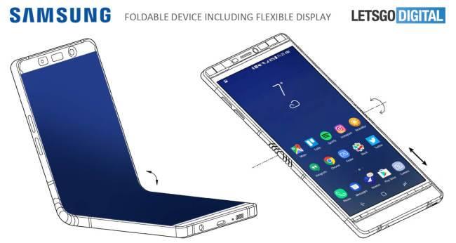Один из концептов смартфона с гибким экраном