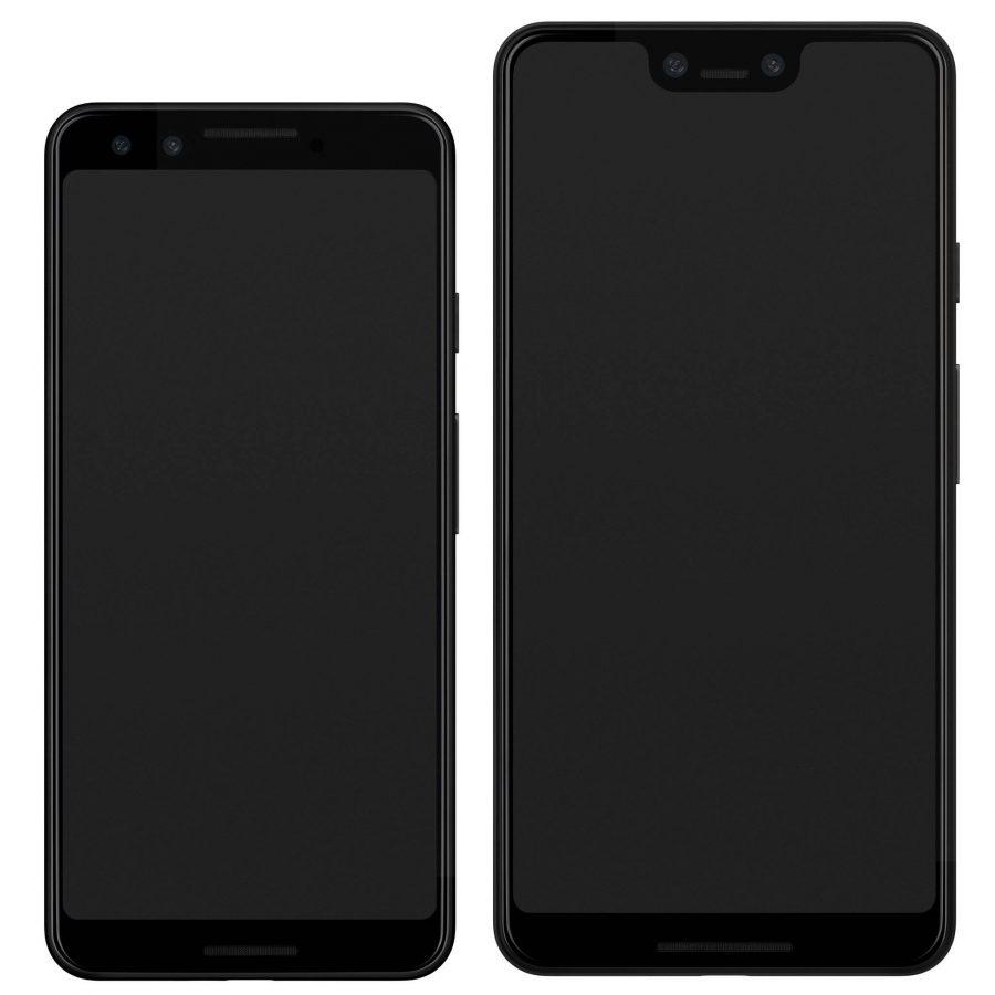 Сравнение Google Pixel 3 XL и обычного Pixel 3 на рендере