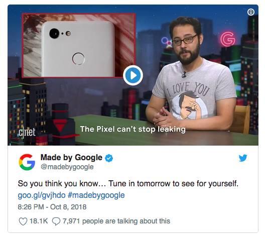 Google интригует публику накануне презентации
