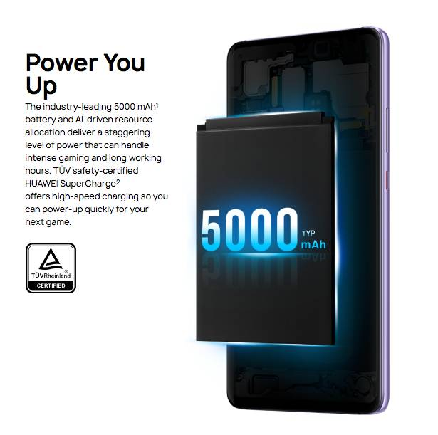 Аккумулятор Huawei Mate 20 X имеет емкость 5000 мАч