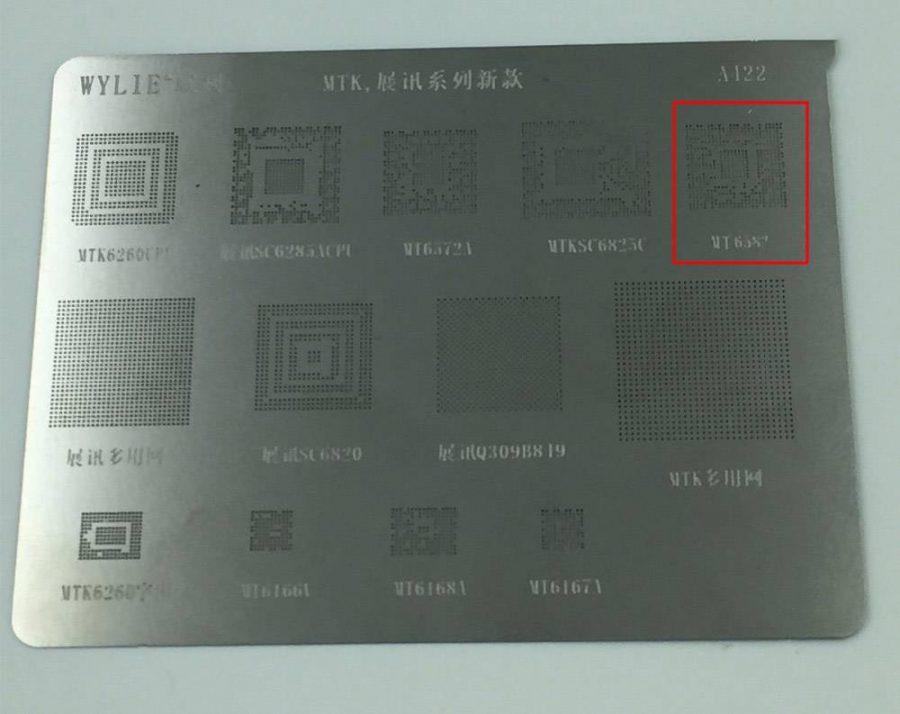 Трафарет MTK6582 для разработчиков печатных плат