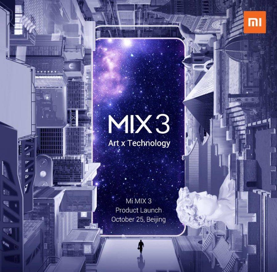 Официальный тизер презентации Xiaomi Mi Mix 3