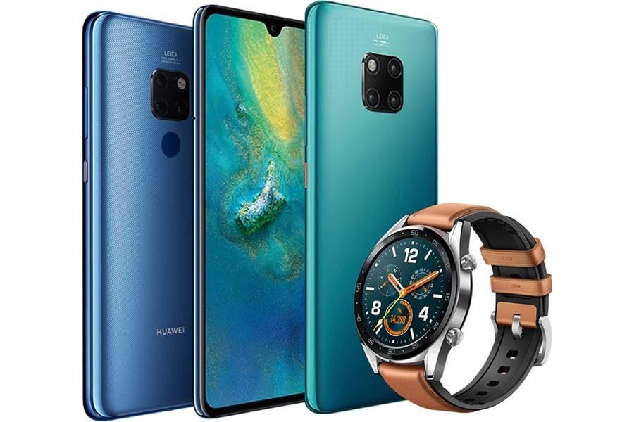 """Предполагается, что в качестве подаркам первым покупателям """"двадцаток"""" Huawei предложит свои новые """"умные часы"""""""