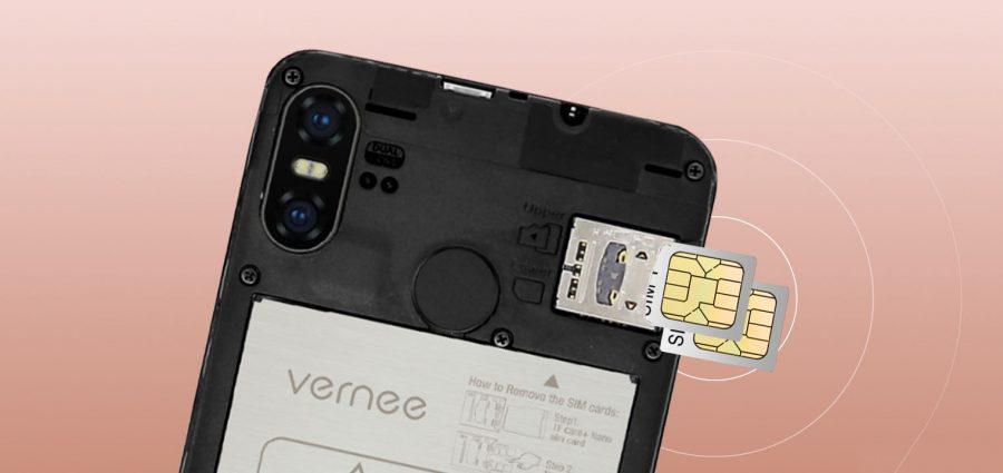 Расположение слота для SIM-карт