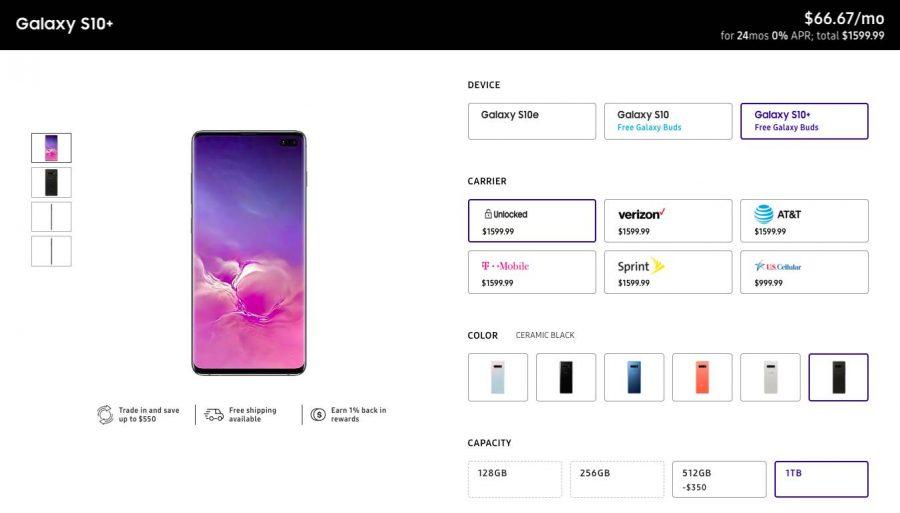 Цена Samsung Galaxy S10+ Pro