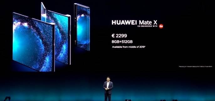 Дата выхода и цена Huawei Mate X
