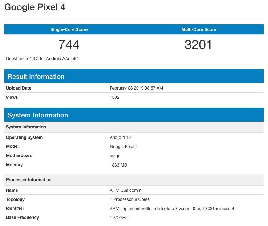 Прототип Googl Pixel 4 под управлением Android 10