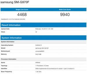 SM-G970F в GeekBench