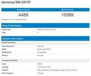 SM-G975F в популярном бенчмарке GeekBench
