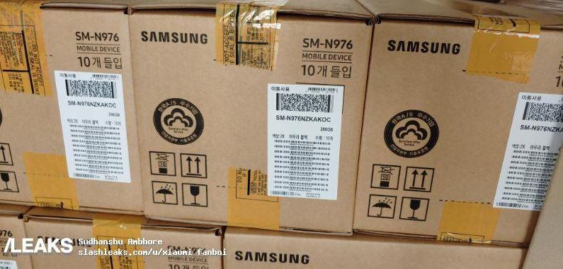 Упаковка Samsung Galaxy Note 10