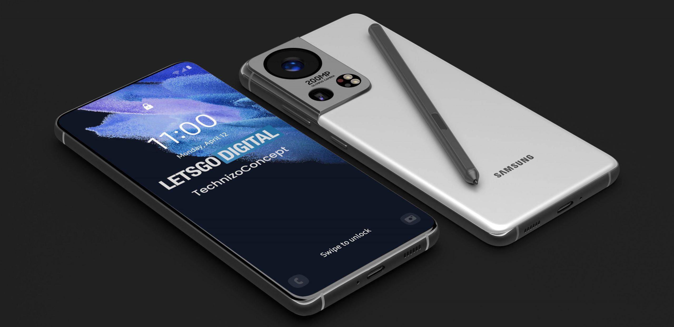 Если что - это не Samsung Galaxy Note 22, а Galaxy S22 Ultra, каким его предрекают инсайдеры и видят дизайнеры концептов.