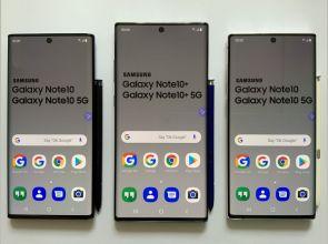 Размеры Samsung Galaxy Note10 и Note10 Plus в сравнении