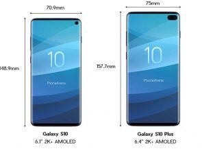 Размеры Samsung Galaxy S10, S10E и S10 Plus в сравнении
